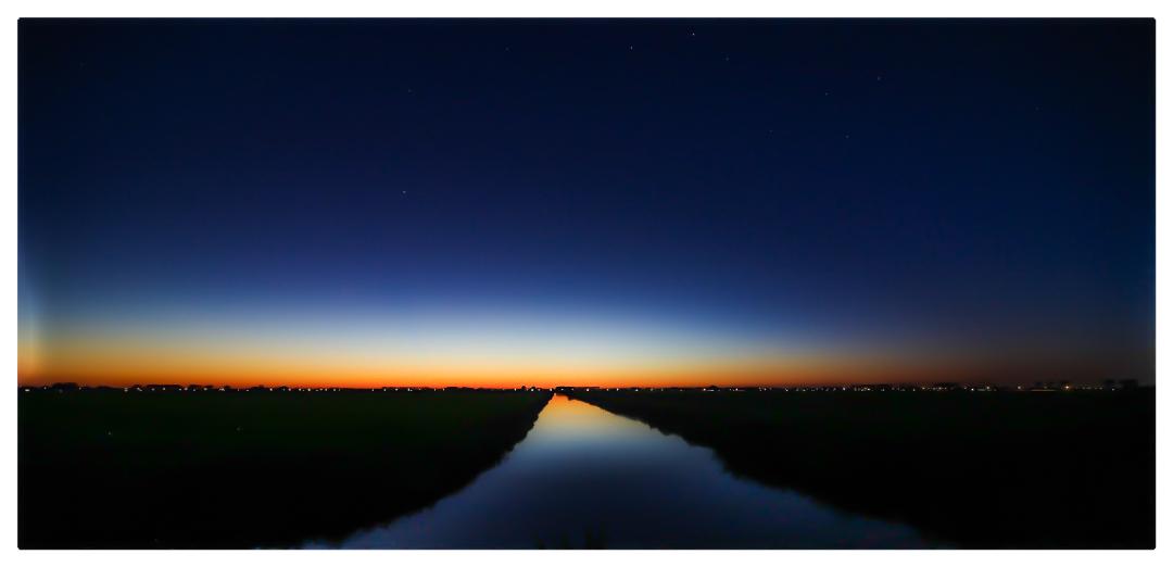zonsondergang, na zonsondergang, zonsondergang Midenbeemster, ebbesfotografie