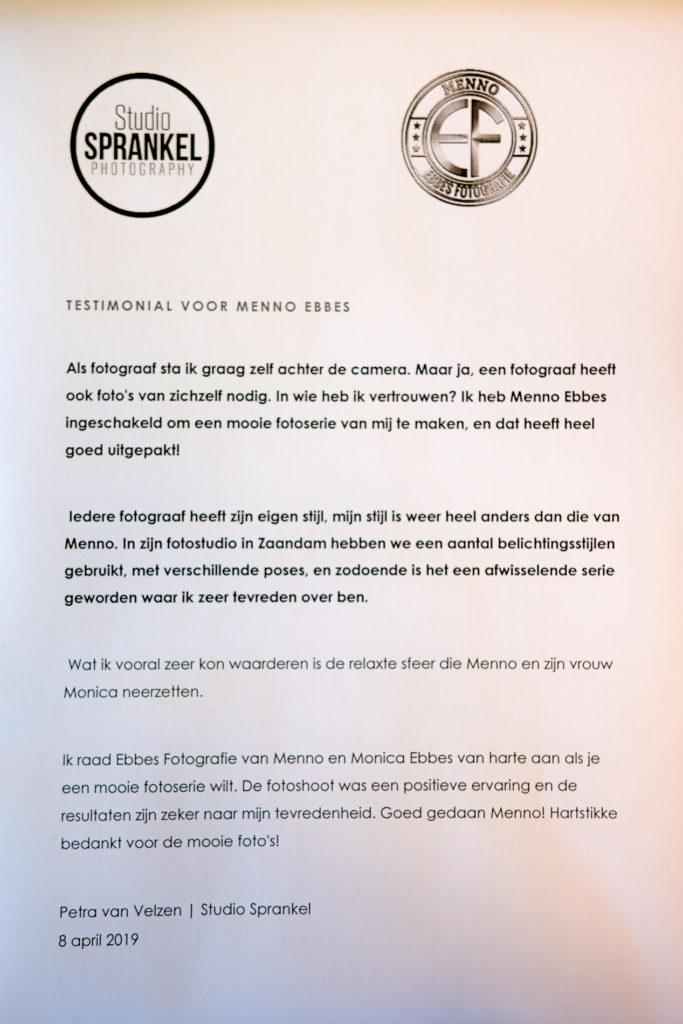 Petra van Velzen, testemonial, pluim, collega, fotograaf, BNI