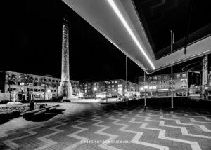 avondklok Lelystad, beeld lely, stadhuis lelystad, corona lelystad, fotografie avondklok
